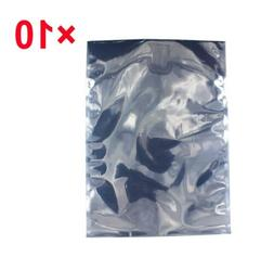 """10 Pack 10"""" x 14"""" ESD Anti-static Bags for Motherboard, Vide"""