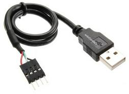 12-inch USB 2.0 A-Male to  4-Pin IDC Motherboard Connector A