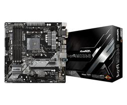 ASRock B450M Pro4 AM4 Motherboard - 1-3 Day Priority Shippin