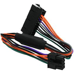 COMeap 24 Pin to 8 Pin ATX PSU Power Adapter Cable Compatibl