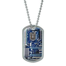 Blue Computer Motherboard - Processor CPU Memory Military Do