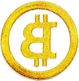 BTC Bitcoin Coin Logo Patch Sew Iron on Embroiderd Applique