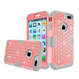 iPhone 7 Plus Case, MCUK 3 In 1 Sparkly Glitter Bling Rhines
