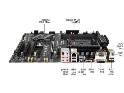 MSI PC AM4 AMD B350 6Gb/s HDMI ATX Motherboards -