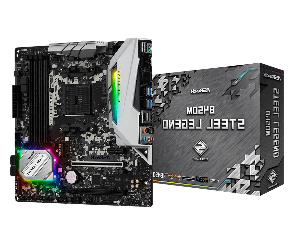 b450m steel legend rgb am4 motherboard 1