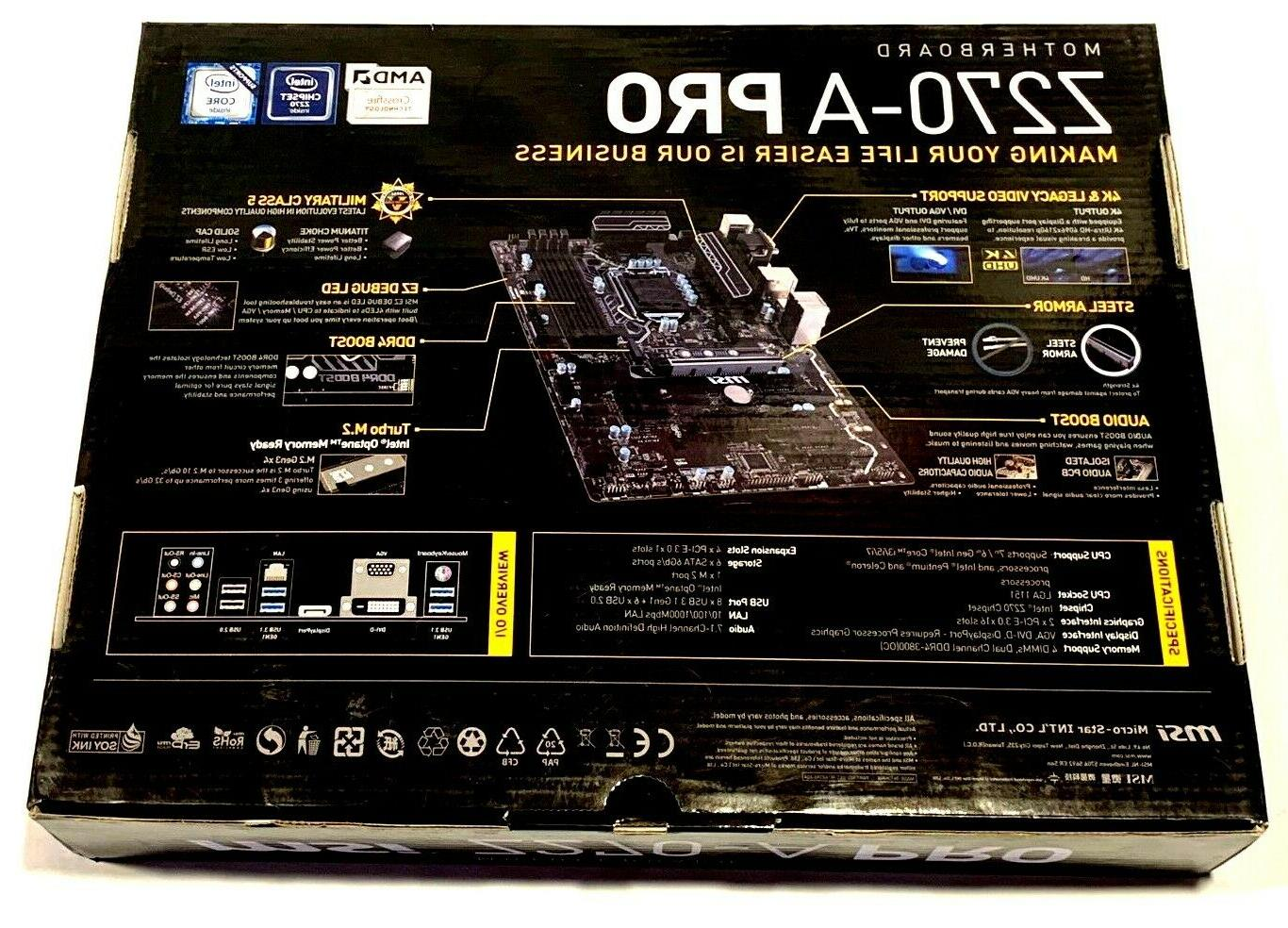 COMBO MOTHERBOARD G3900 2.8 CPU + DDR4 DVI