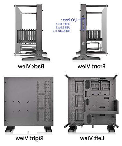 Thermaltake Tempered Glass Case Chassis, Open Panoramic Glass Wall-Mount, Riser Cable Edition, CA-1G4-00M1WN-06
