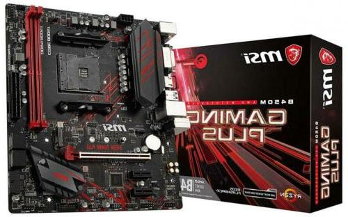 MSI Performance Gaming AMD Ryzen 1st and 2nd Gen AM4 M 2 USB 3 DDR4 DVI  HDMI Micro-ATX Motherboard
