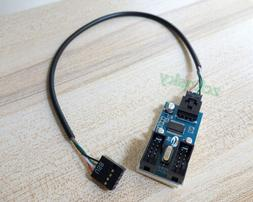 Motherboard USB 9P 9Pin Header Splitter 1 to 2 Extension Cab