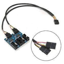 1 to 4 Splitter Port Multiplier Extension Cable Motherboard