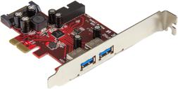 NEW 4 Port PCI Express USB 3.0 Card 2 External & 2 Internal