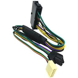 COMeap 24 Pin to 6 Pin PCI-E ATX Main Power Adapter Cable fo