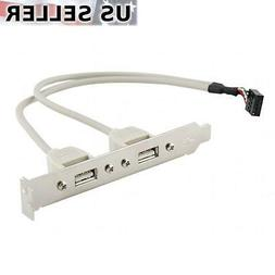 2 Port USB 2.0 Rear Panel Expansion Bracket to Motherboard U