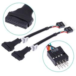 USB 3.0 20-Pin Motherboard Header Female To USB 2.0 9-Pin Ma